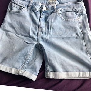 Justice Faded Wash Jean Shorts